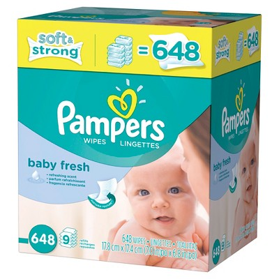 Pampers Baby Fresh Wipes - 648 ct