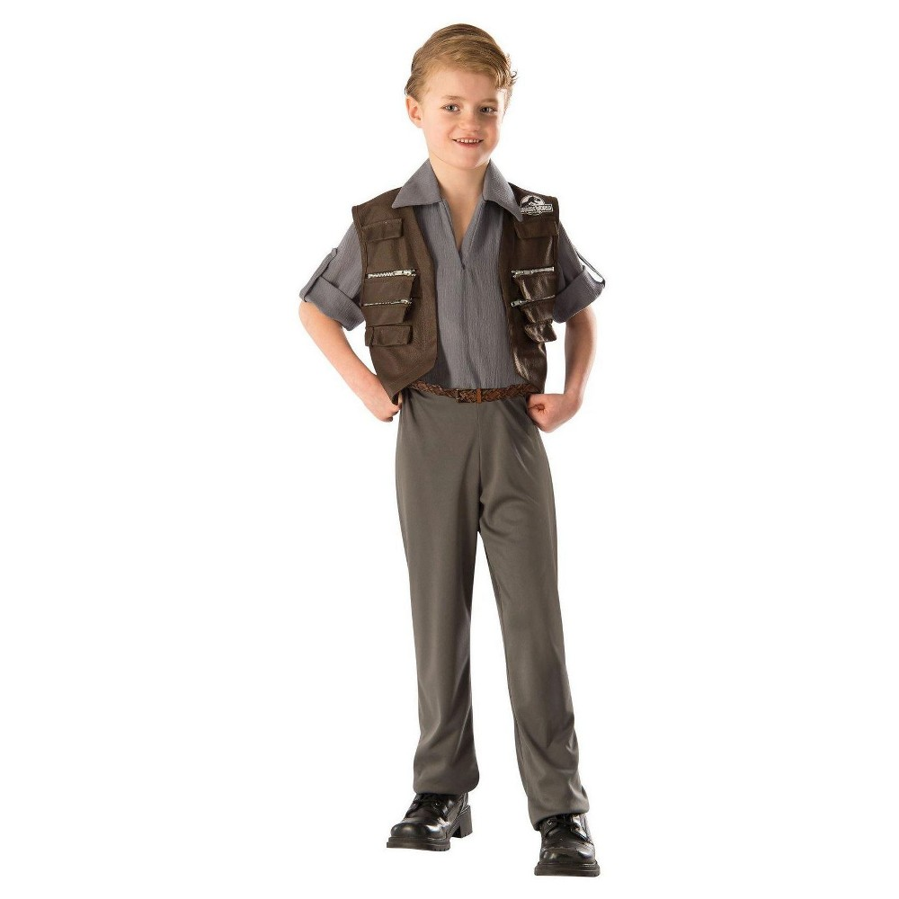Jurassic World Kids Own Costume - L(10-12), Boys, Green