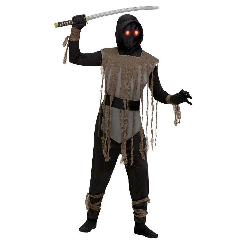Fade In Fade Out Ninja Kids' Costume – Large, Kids Unisex, Size: L (12-14), Black