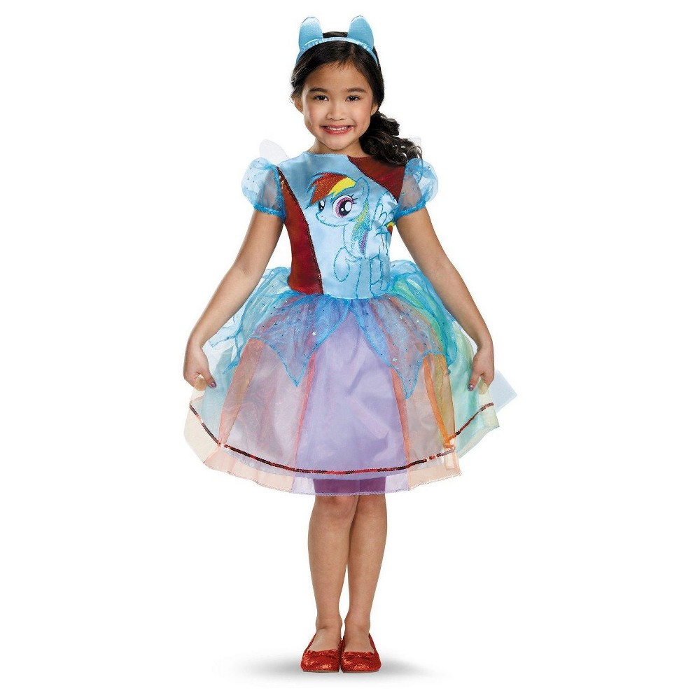 My Little Pony Kids' Rainbow Dash Deluxe Costume M(7-8), Girl's, Blue