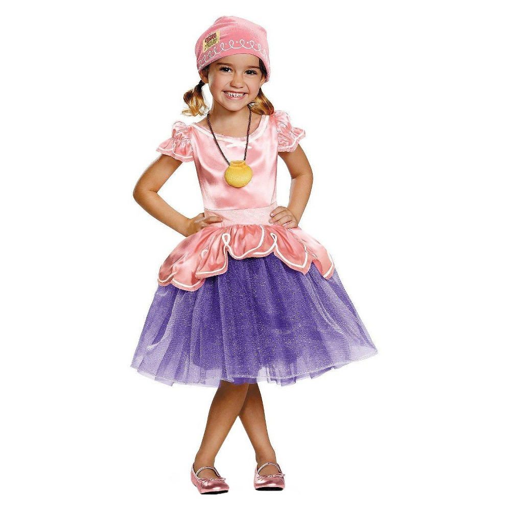 Jake and the Neverland Pirates Girls Toddler Izzy Tutu Deluxe Costume - 3T/4T, Size: 3T-4T, Pink