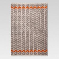 Flatweave Chevron Area Rug - Gray/Orange - Mudhut™