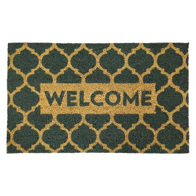 Lattice Welcome Doormat - Blue - 1'6 x2'6  - Threshold™