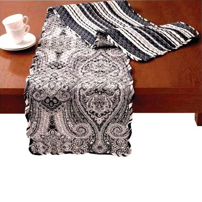 Black Paisley Pizzazz Collection Runner (14 X70 )- Waverly