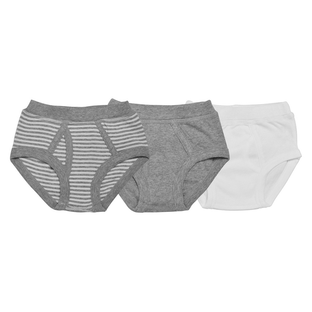 Burts Bees Baby Toddler Boys Briefs 6-7, Multicolored