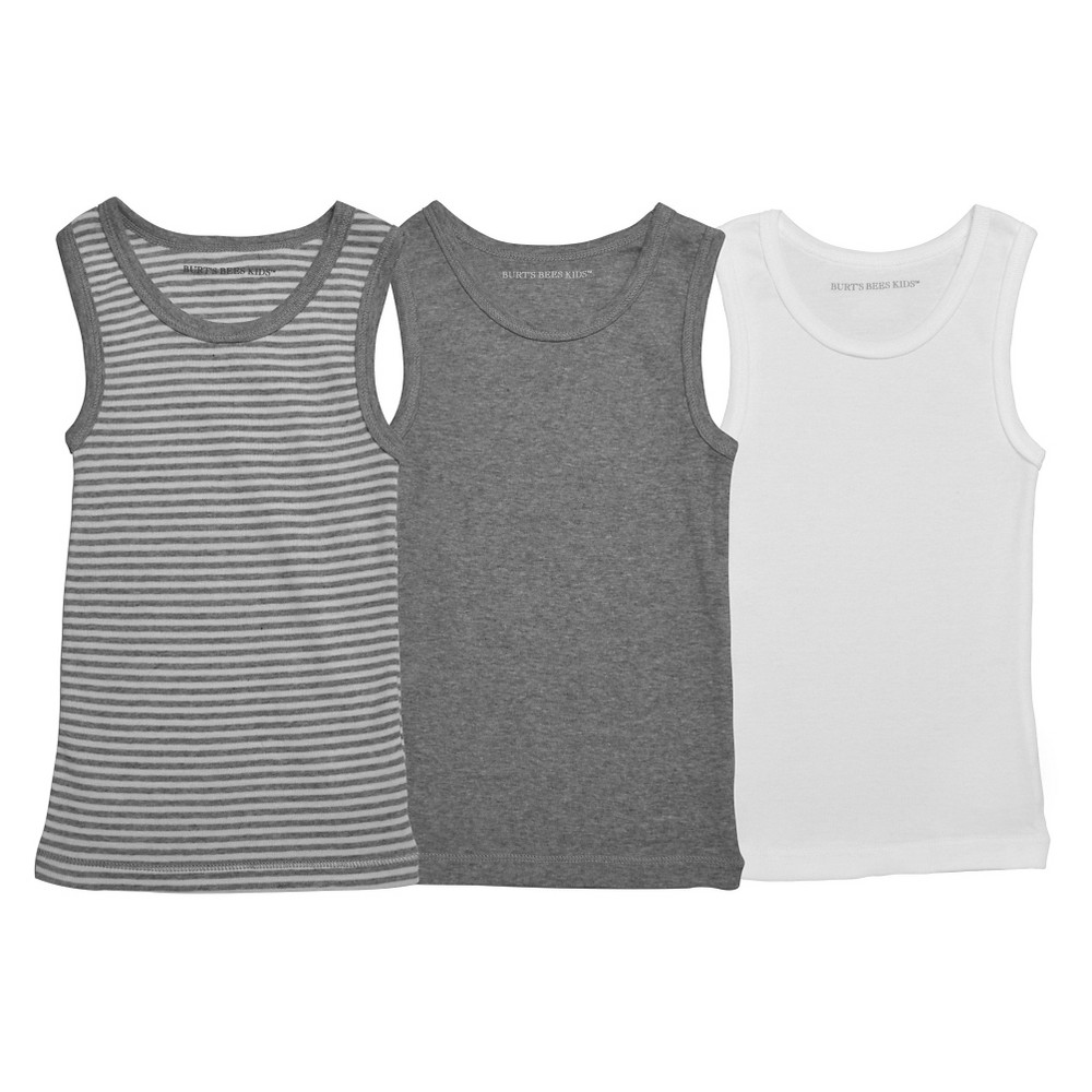Burts Bees Baby Toddler Boys Tanks 4T/5T, Multicolored