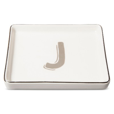 Trinket Dish Monogram J - Threshold™