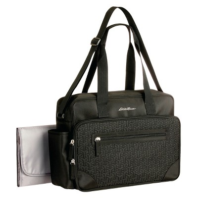 Eddie Bauer Quilted Diaper Bag Black