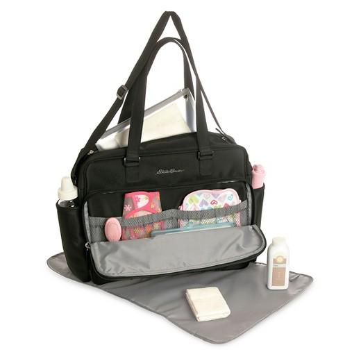 eddie bauer quilted diaper bag black target. Black Bedroom Furniture Sets. Home Design Ideas