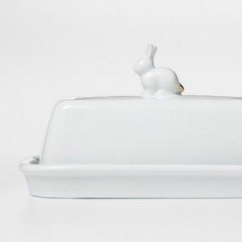 Bunny Butter Dish Porcelain White - Threshold™