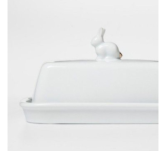 Bunny Butter Dish Porcelain White - Threshold™