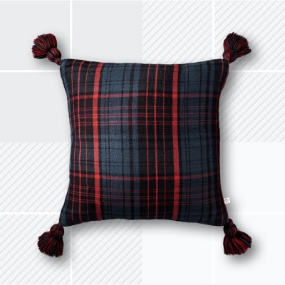 Throw Pillow - Blue/Red Plaid - Hearth & Hand™ with Magnolia
