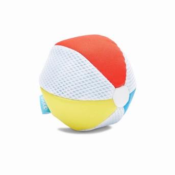 BARK Beach Ball Multicolored Dog Toy - Life's a Beach Ball