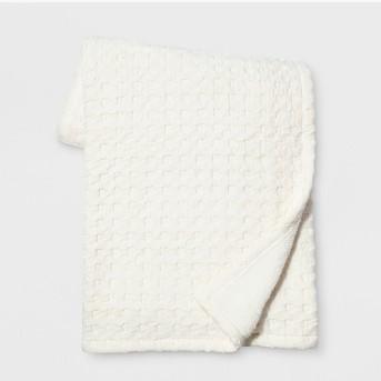 Waffle Throw Blanket White - Threshold™