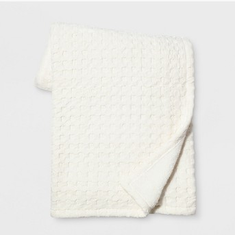 Waffle Throw Blanket White - Threshold™