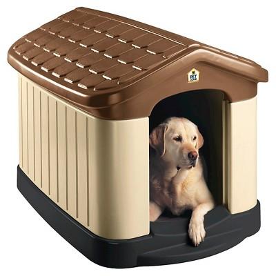 Pet Zone Tuff-N-Rugged Dog House - 30.2 H - Brown