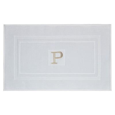 Bath Mat Monogram P White (18 x31 )- Threshold™