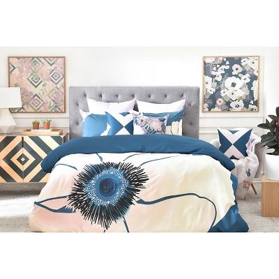 khristian a howell fleur in blue duvet deny designs