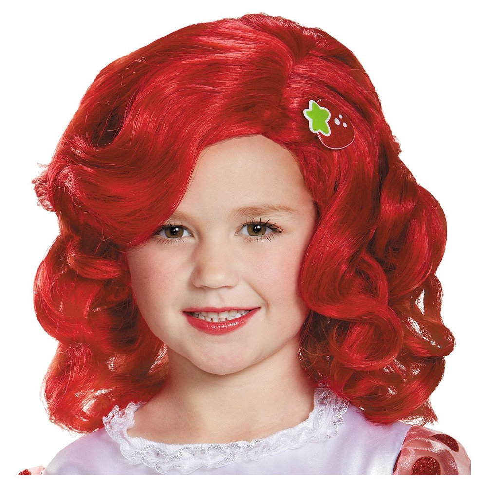 Strawberry Shortcake Girls' Deluxe Wig, Red
