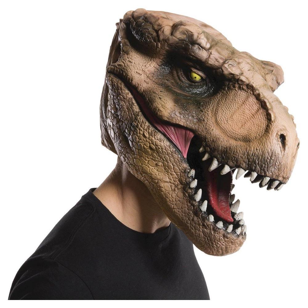 Jurassic World Adult T-Rex Overhead Mask, Adult Unisex, Brown