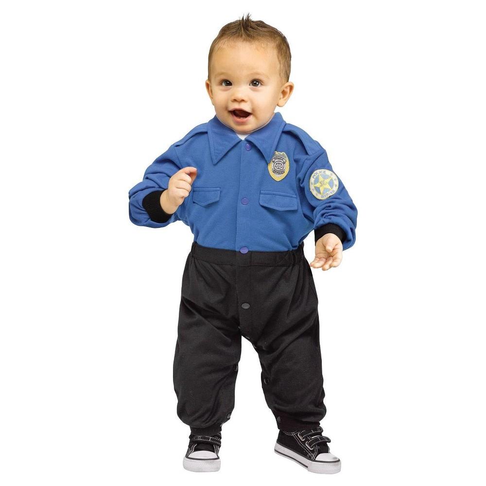 Toddler Kids Policeman Costume 12-24 Months, Toddler Unisex, Blue