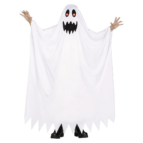 Kids' Fade In-Fade Out Ghost Costume White Medium 7-8 - image 1 of 1