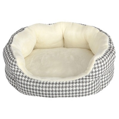 Houndstooth Oval Pet Bed - S - Boots & Barkley™