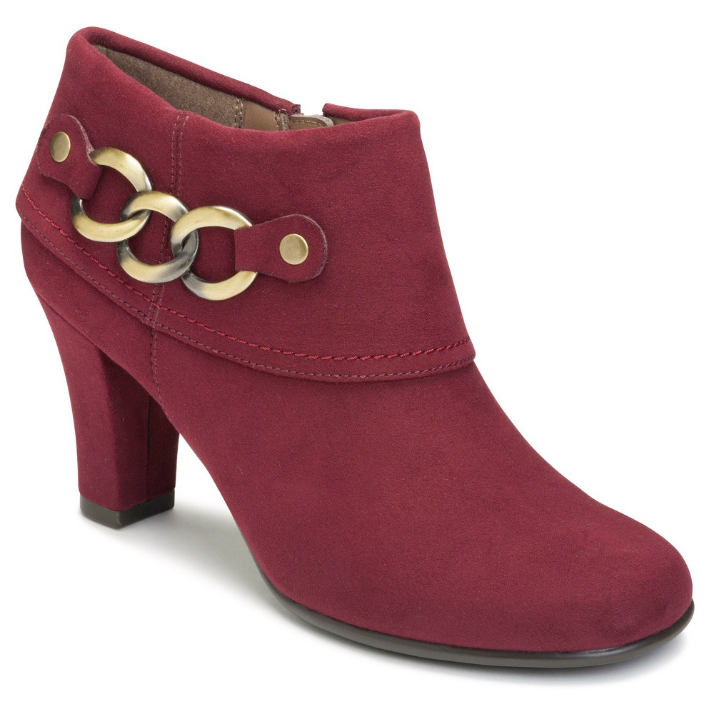 Womens A2 by Aerosoles First Role Ankle Booties - Red 7.5
