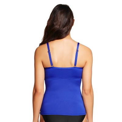 Women's Underwire Tankini Top - Blue XL - Merona, Electric Blue