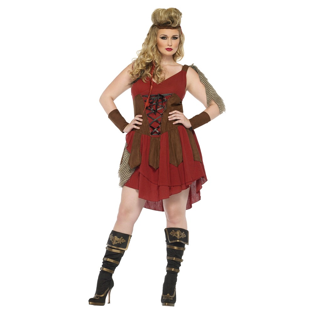 Womens Deadly Huntress Costume Small, Red