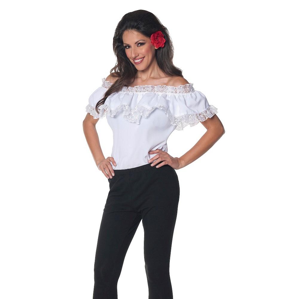 Womens Plus Size Senorita Costume 2X, White