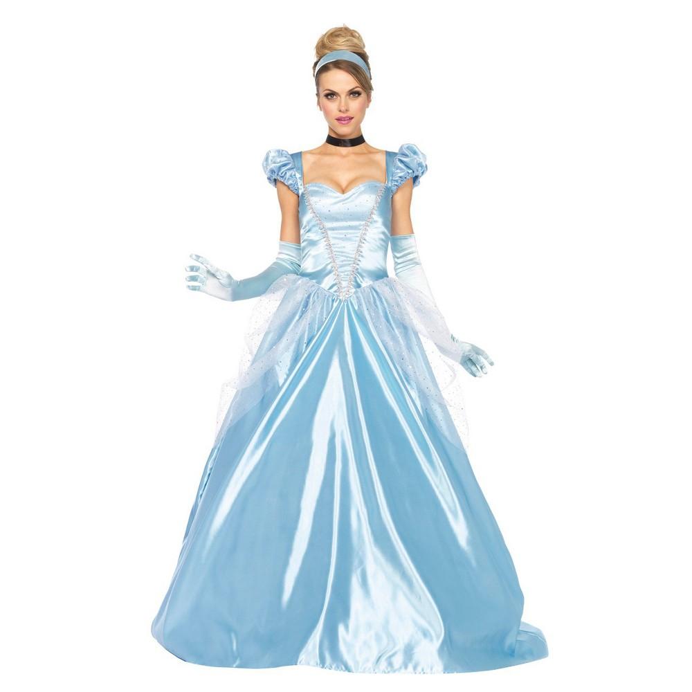 Disney Womens Cinderella Classic 3 Pc Costume - Small, Blue