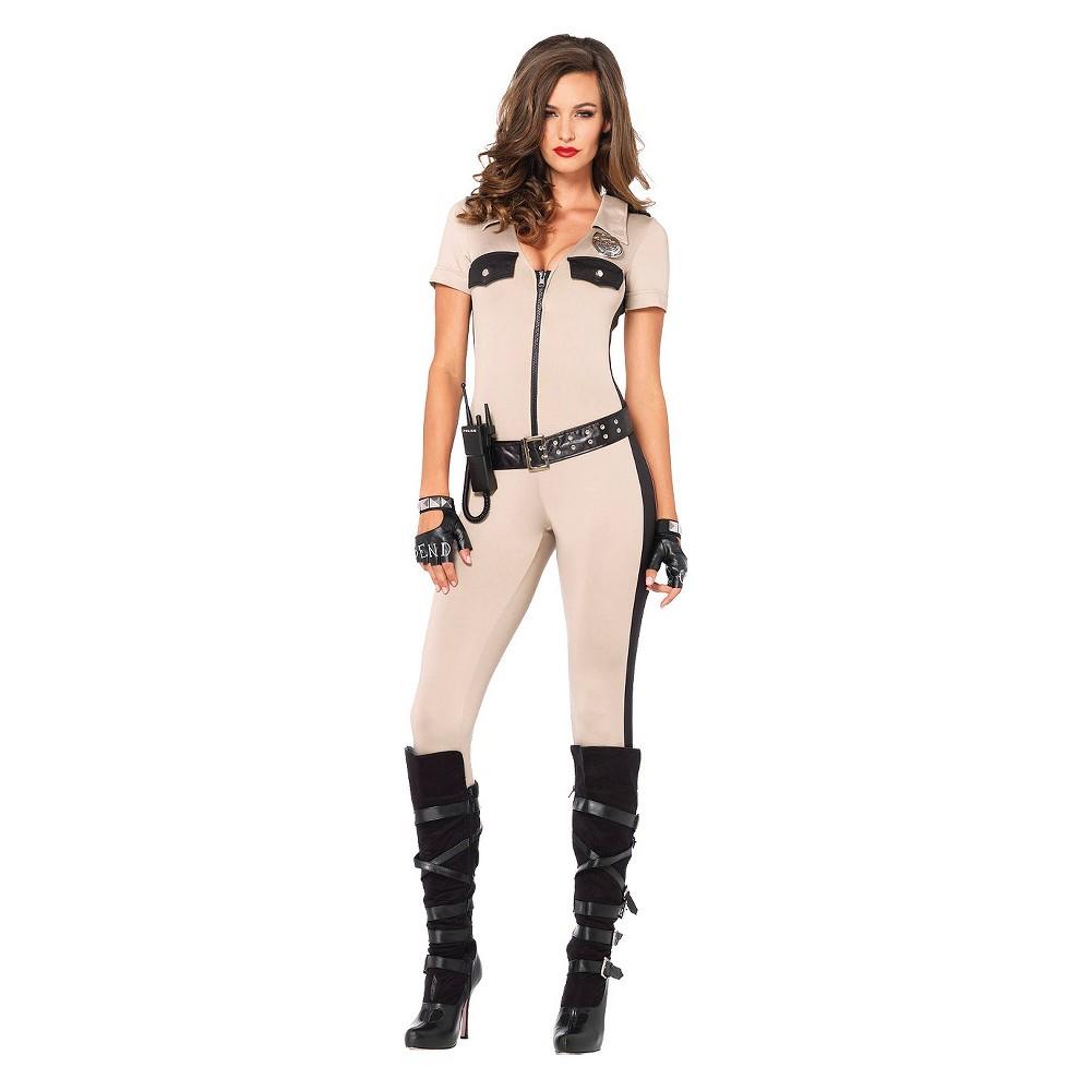 Women's Deputy Patdown Costume Large, Beige