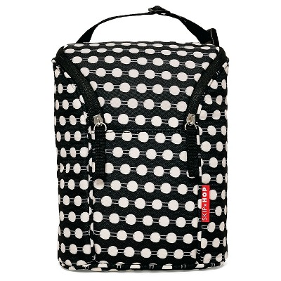 Skip Hop Grab and Go Double Bottle Bag, Connected Dots