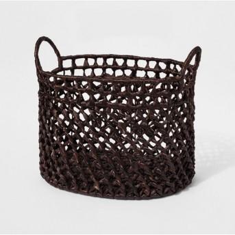 Dark Woven Cane Basket - Threshold™