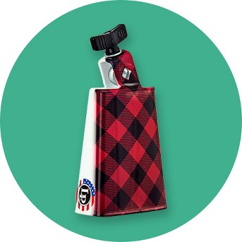 LP Collectabells Plaid Cowbell 5 in.