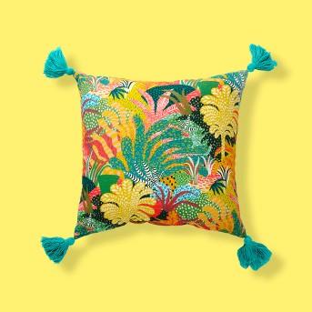 Tassel Outdoor Pillow Yellow/Green - Opalhouse™