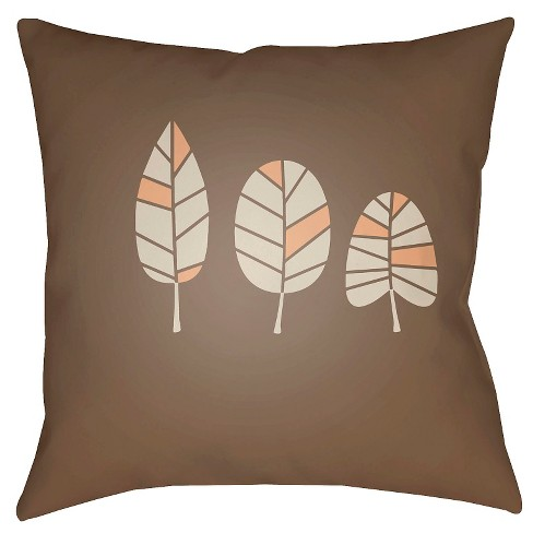 Fall Leaves Throw Pillow - Surya - image 1 of 2