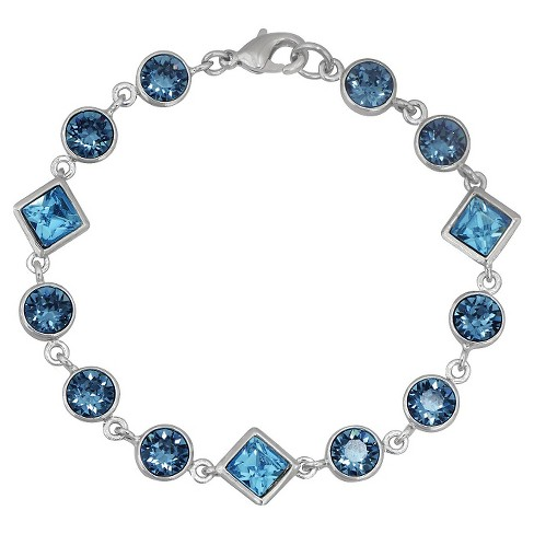 Fine Jewelry Silver - Plated Bangle Bracelet - Blue - image 1 of 1