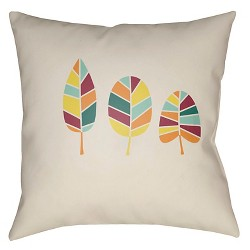 Fall Leaves Throw Pillow - Surya