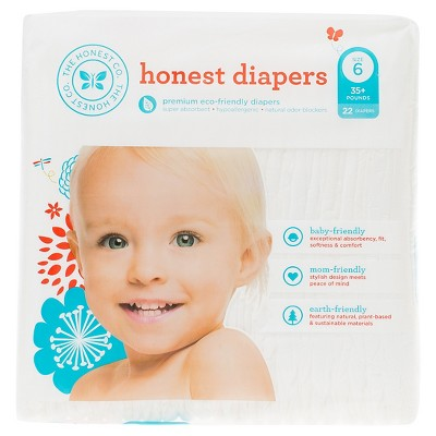 Honest Company Diapers White - Size 6 (22 ct)