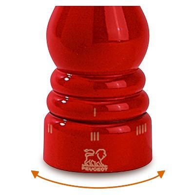 Peugeot Paris u'Select 9 Beech Wood Salt Mill - Dark Red Lacquer, Deep Red