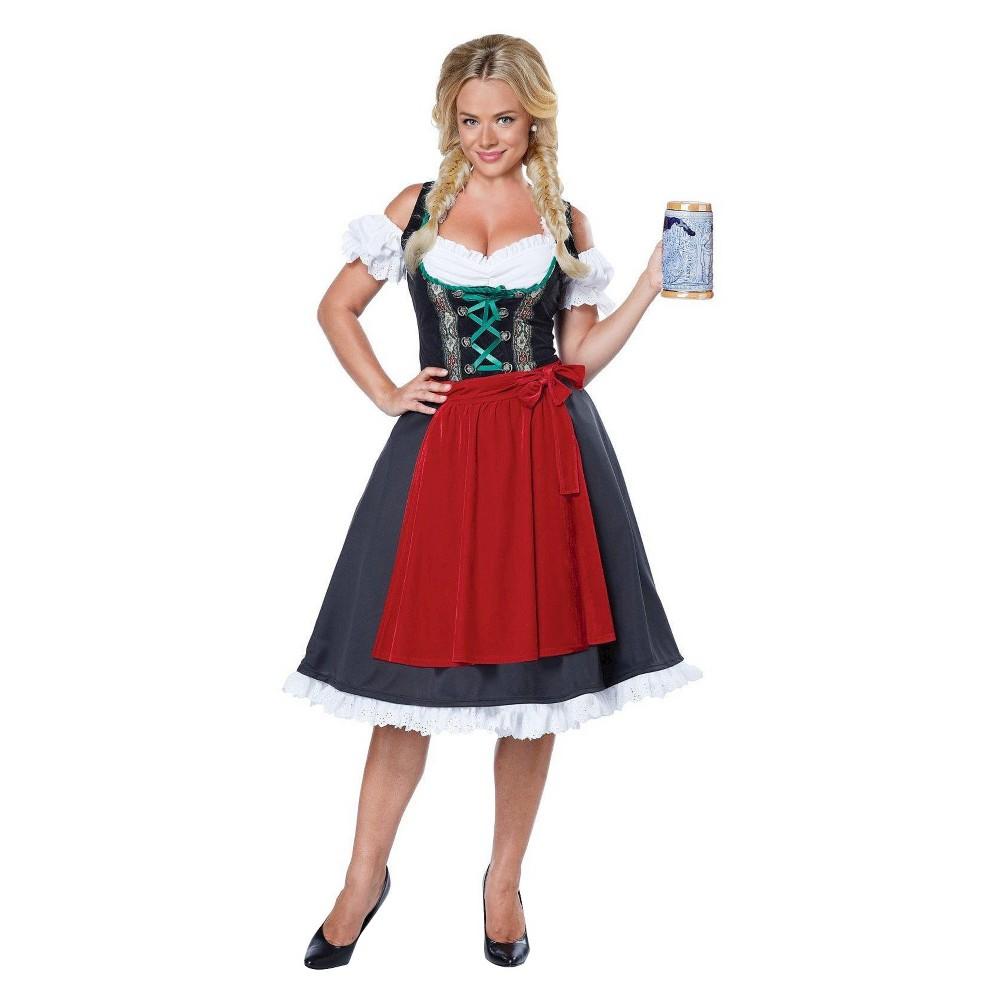 Womens Oktoberfest Fraulein Costume - Small, Red