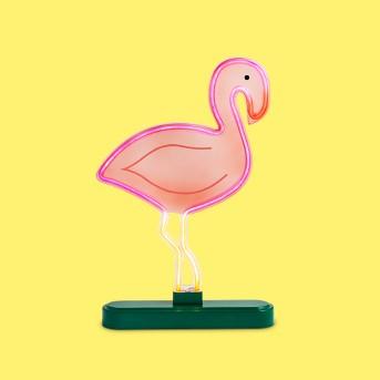 Faux Neon Tabletop Flamingo Sign - Sun Squad™