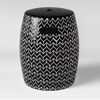 Salvia Round Garden Stool Black & White - Opalhouse™