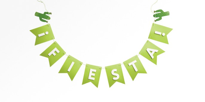 'Fiesta' Party Garland Green - Spritz