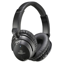 Audio Technica QuietPoint Noise-Cancelling On-the-ear Headphones - Black (ATH-ANC9)