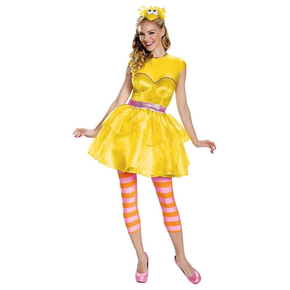 Womens Sesame Street Big Bird Sweetheart Dress Costume - Small, Yellow