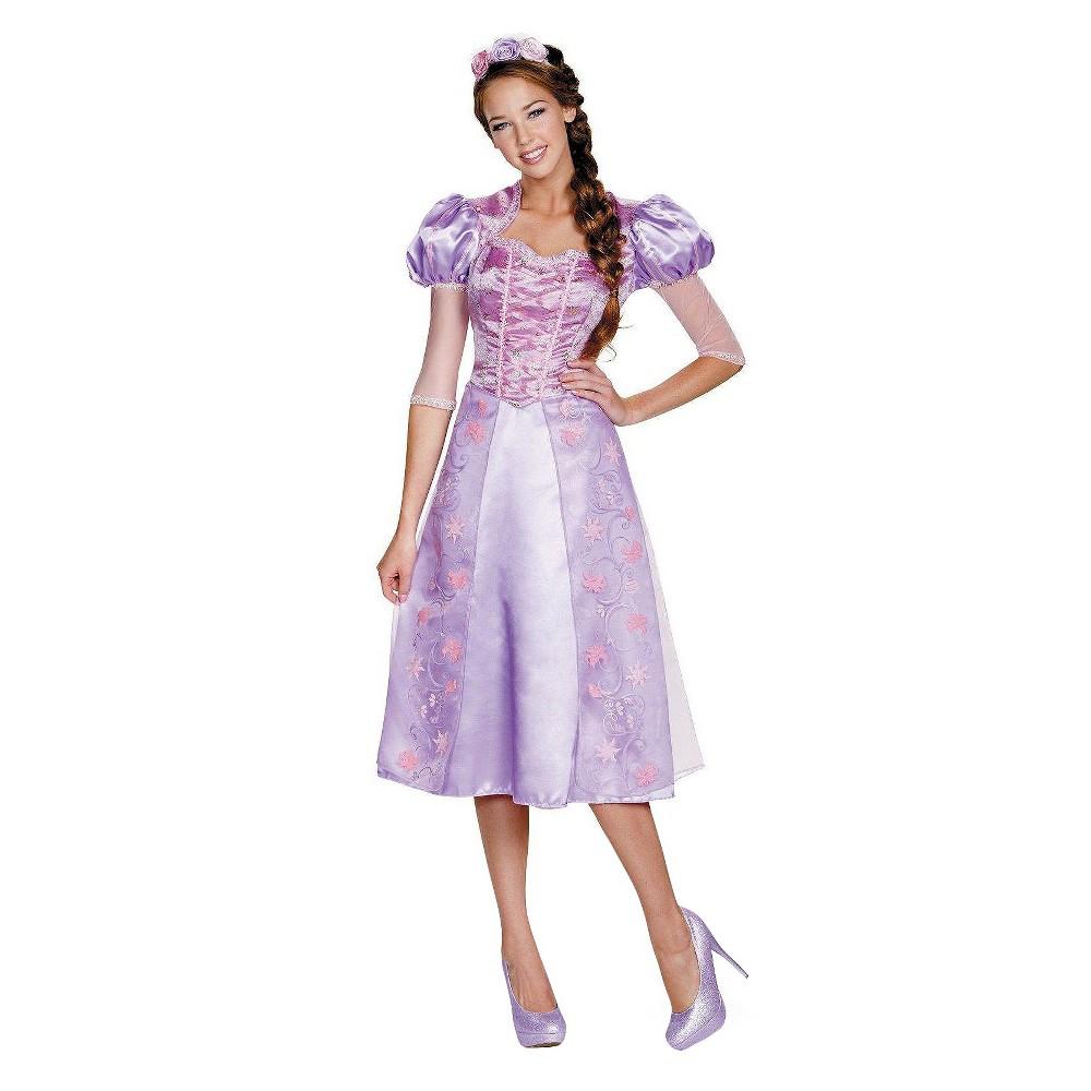 Womens Disney Princess Rapunzel Deluxe PluS Size Costume - 1X, Size: XL, Purple