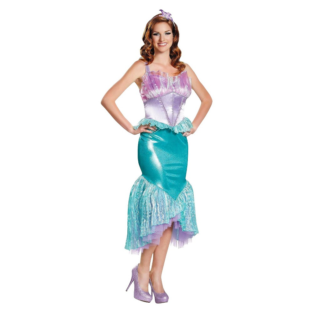 Disney Womens Princess Ariel Deluxe Costume - Small, Green